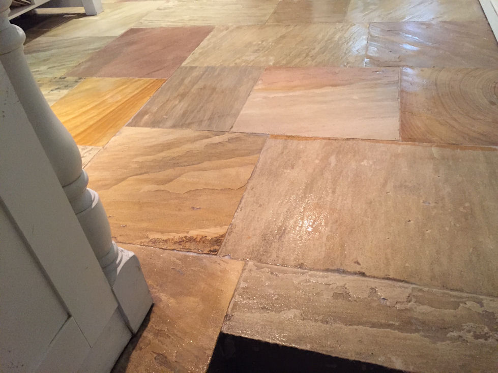 Sealed Sandstone Kitchen Floor Bath