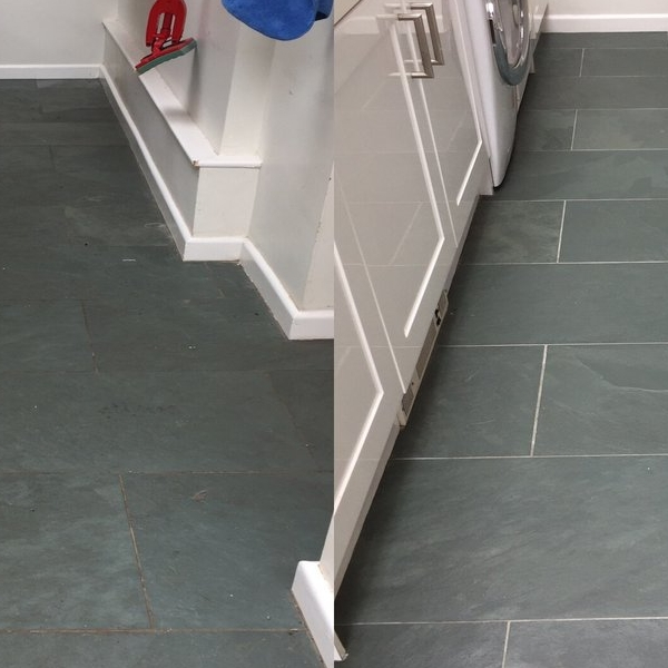 Slate Floor Before & After