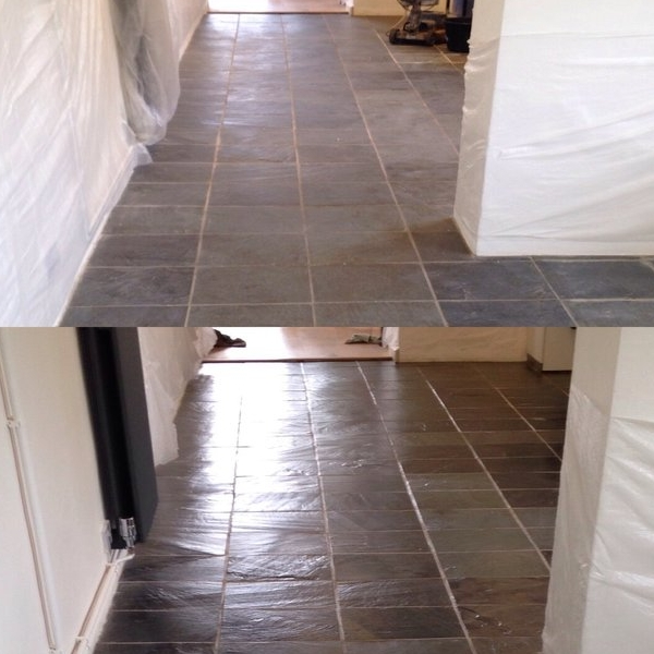 Slate Floor Restoration Before & After
