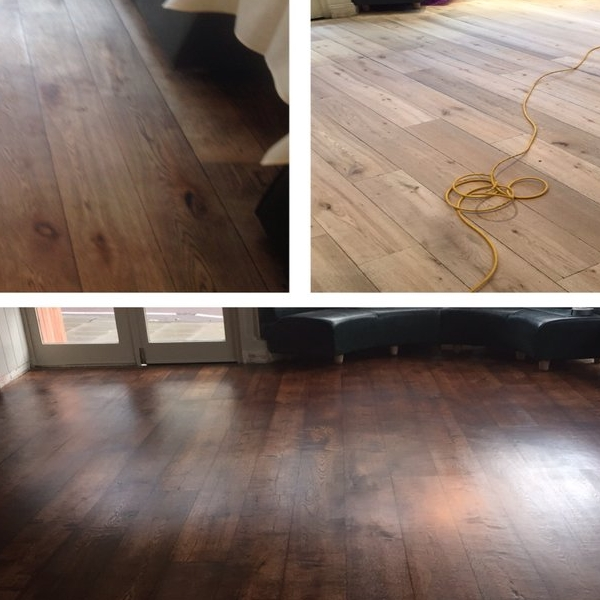 Wood floor Staining Before & After